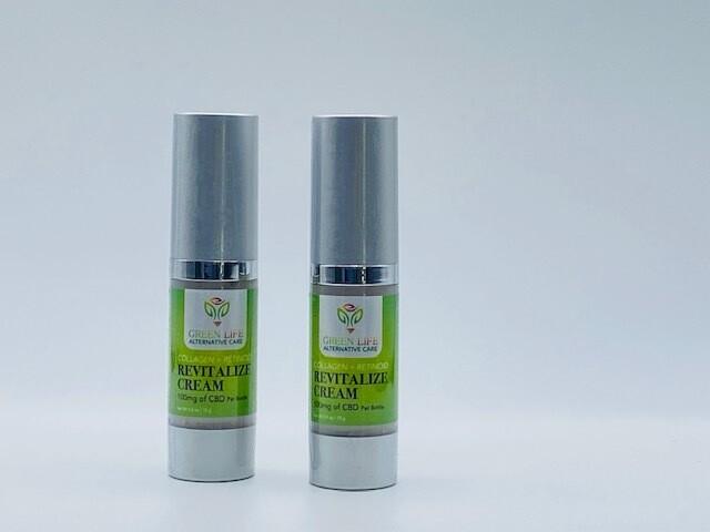 Green Life CBD Revitalizing Cream Collagen + Retinoid 100mg