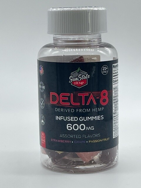 SSH Delta 8 Infused Gummy 600mg 30ct