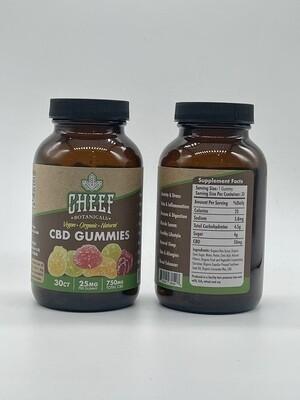 CB Cheef Botanicals Vegan CBD Gummies 750mg