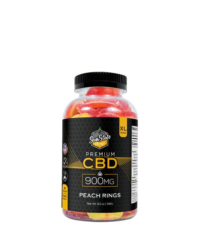 CBD Full Spectrum Gummy Peach Rings 36pcs 900mg