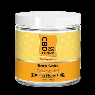 CBDL Coconut Lime Bath Salts 500mg