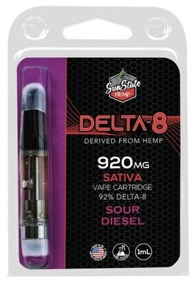 SSH Delta 8 Cartridge Sour Diesel 1ml 920mg
