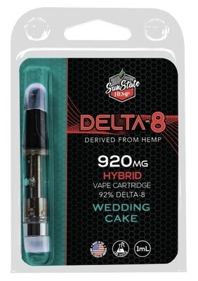 SSH Delta 8 Cartridge Wedding Cake Fritter 1ml 920mg