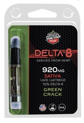 SSH Delta 8 Cartridge Green Crack 1ml 920mg