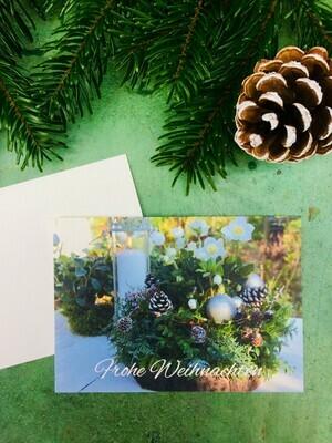Postkarte Din a6 Motiv Weihnachtliches Arrangement, 5 Stück