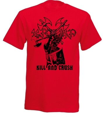 Kill & Crush t-shirt - RED