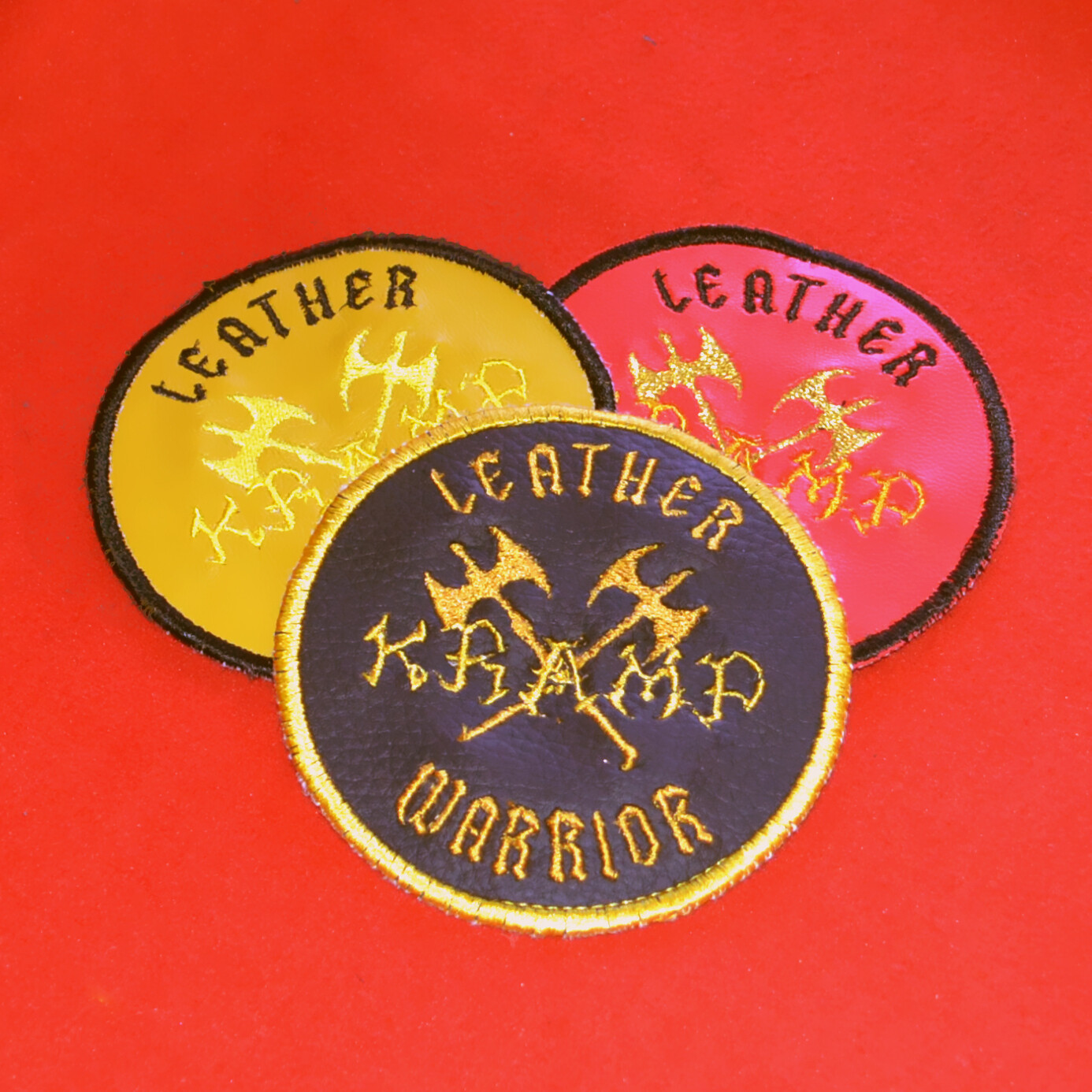 Leather Warrior patch - PU LEATHER IN 3 COLORS