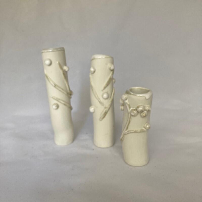 3 mini vases