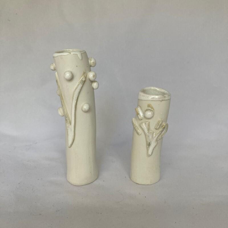 2 mini vases