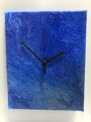 Fluid Art Canvas Clock