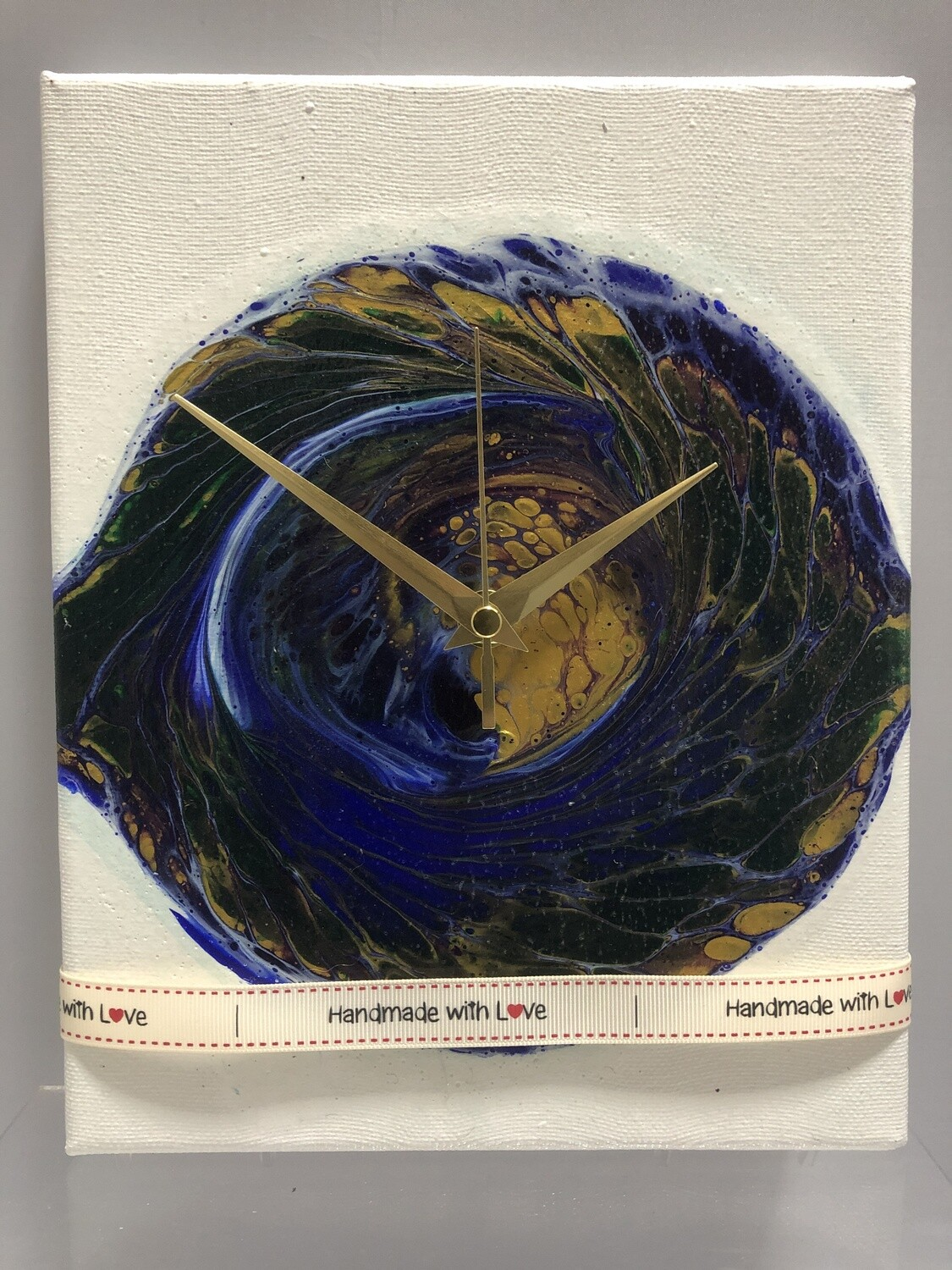 Fluid Art Canvas Clock