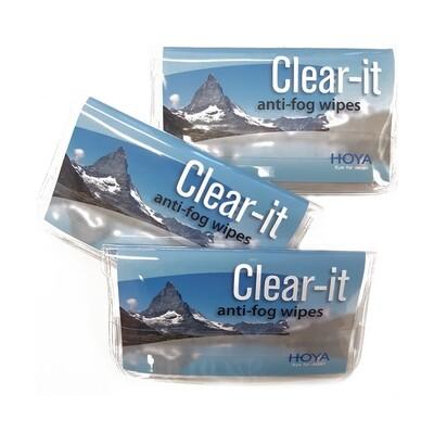 Clear-it - Antibeschlag Reinigungstuch für Brillen