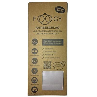 Foogy - Antibeschlag Reinigungstuch für Brillen
