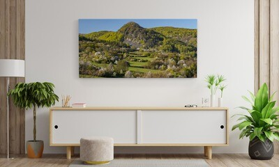 Krušné hory - JARO,  800 motivů, panorama, 100 x 50 cm - Stadur deska 5 mm