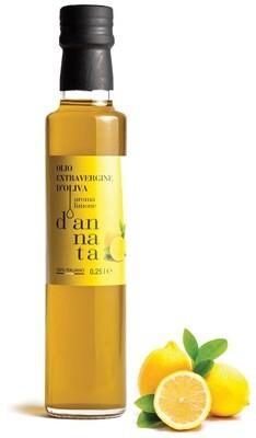 Olio extravergine di oliva aromatizzato al limone CL 25. 100% Italiano
