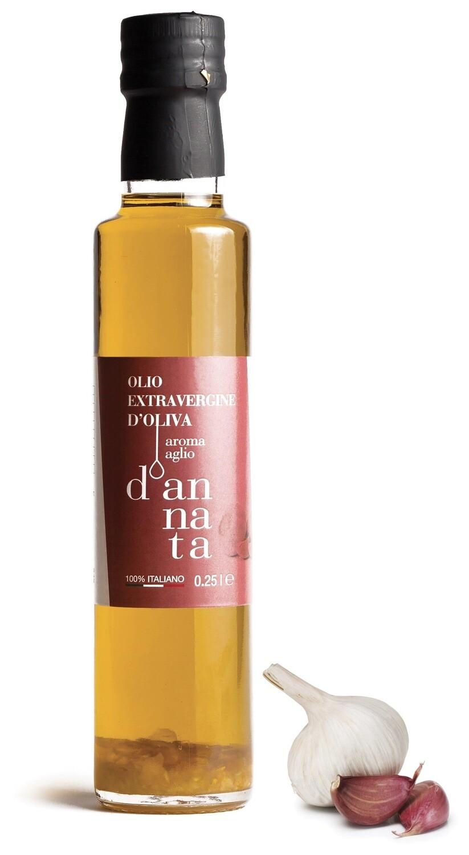 Olii extravergine aromatizzato all'aglio cl 25
