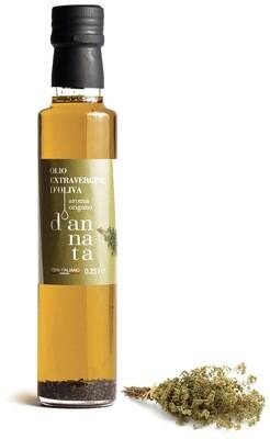 Olio extravergine di oliva aromatizzato all'origano cl 25. 100% Italiano