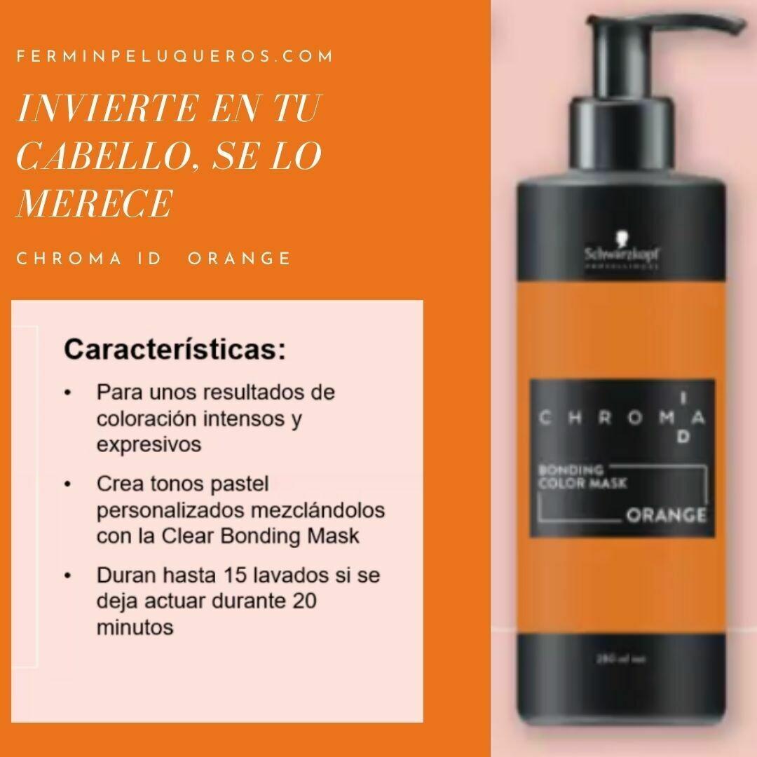 Chroma ID Mascarilla Bonding de color Intenso Orange 280ml-schwarzkopf professional