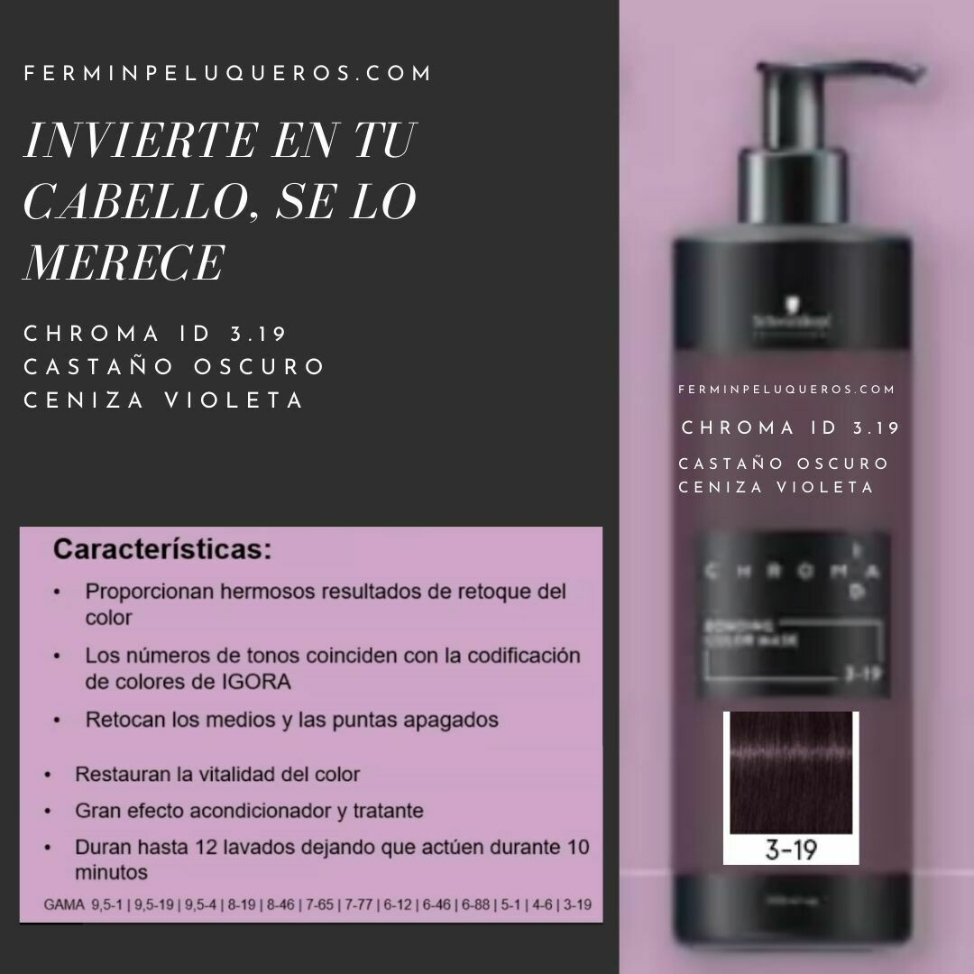 Schwarzkopf Chroma ID Mascarilla Bonding de color Castaño Medio Chocolate 4-6 500ml