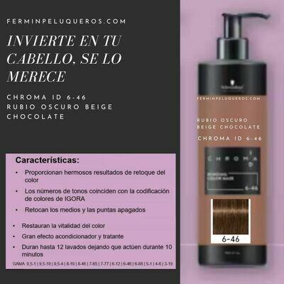 Schwarzkopf Chroma ID Mascarilla Bonding de color Rubio Oscuro Beige Chocolate 6-46 500ml