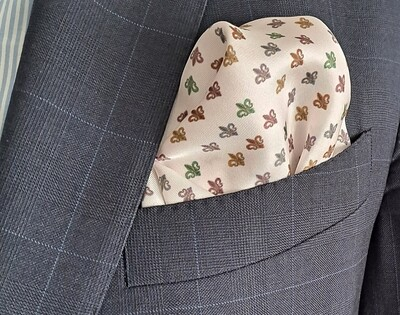 """Colored """"Lys"""" Pocket square"""