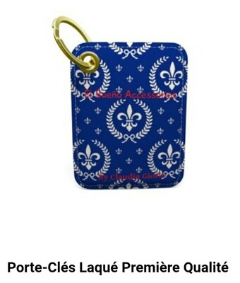 """Keyring """"Lys"""" white and blue"""