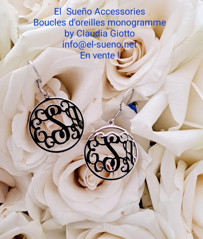 Monograms earrings
