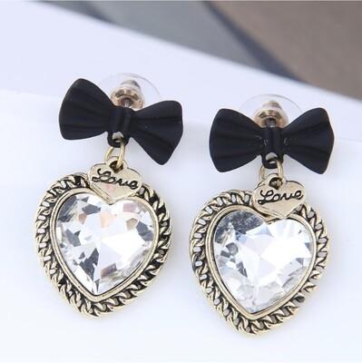 """Earrings """"Baroque Petit noeud & coeur"""""""