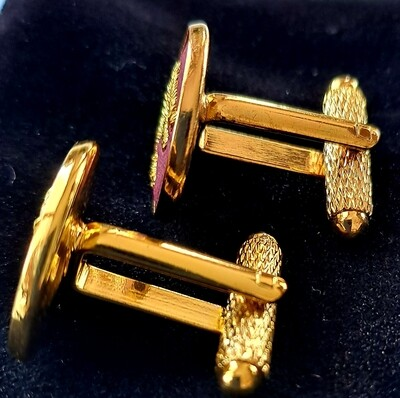Cufflinks Bordeaux and gold