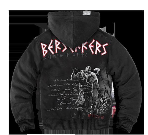 BERSERKERS ZIPPED SHEEPSKIN HOODIE M / BLACK