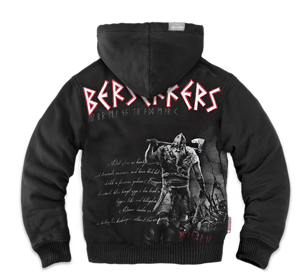 BERSERKERS ZIPPED SHEEPSKIN HOODIE M / BLACK