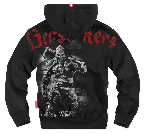 "ZIPPED SHEEPSKIN HOODIE M / BLACK  ""BERSERKERS"""