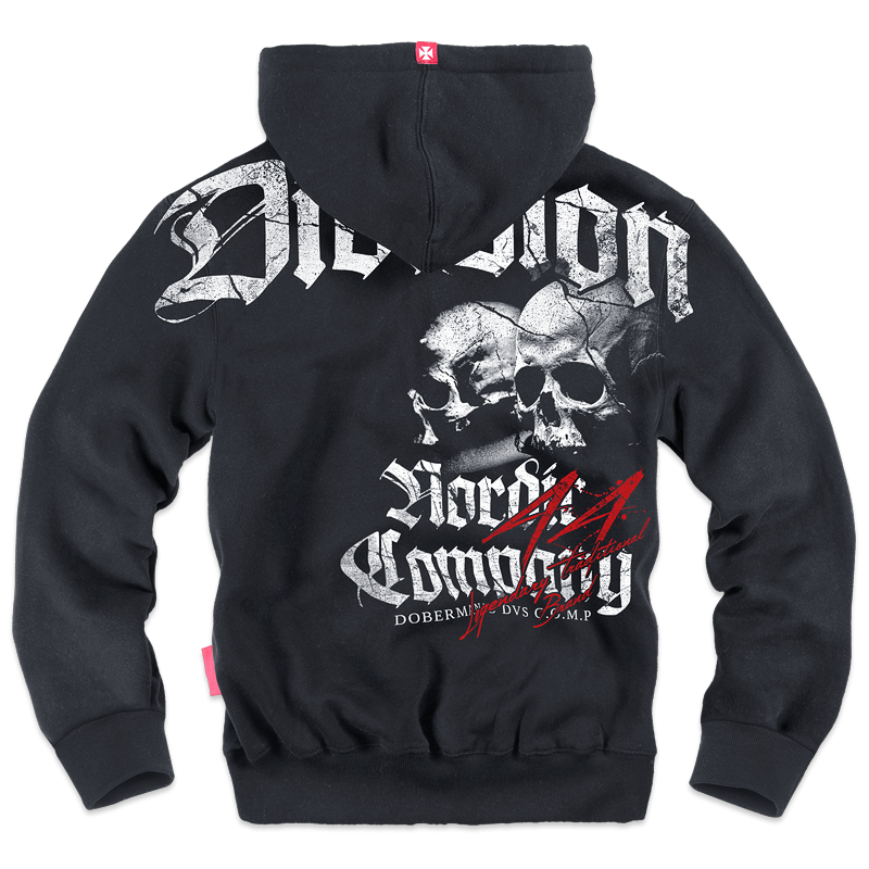 "ZIPPED SHEEPSKIN HOODIE M / BLACK  ""DIVISION 44"""