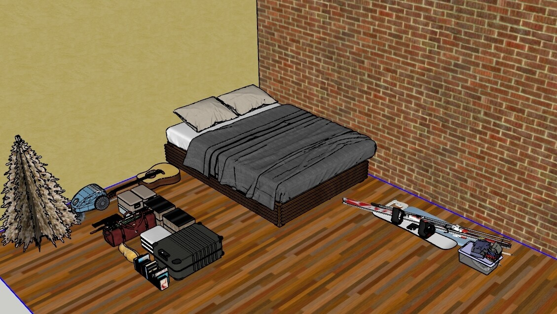 Кровать 140 на 200 из дерева