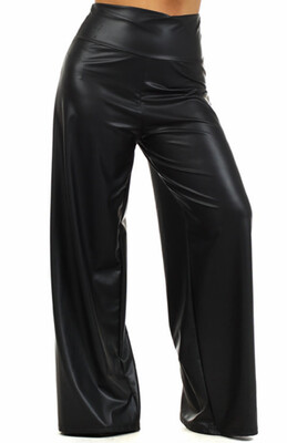 Faux Leather Palazzo Pants