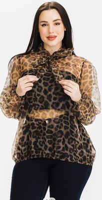 Leopard Organza