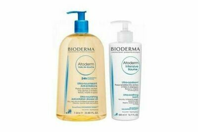 BIODERMA PACK ATODERM INTENSIVE Crema 500 ml + ATODERM Aceite de Ducha 1 L