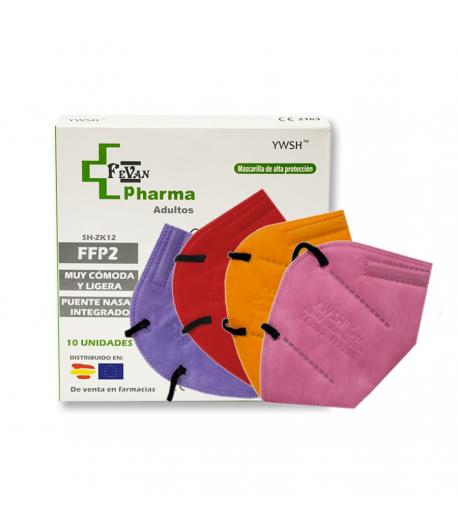 Mascarilla FFP2 YWSH 10 colores surtidos
