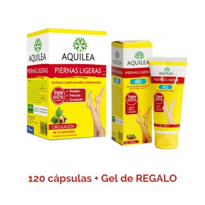 Aquilea Piernas Ligeras Pack 120 caps + gel 100 ml