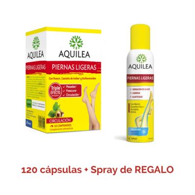Aquilera Piernas Ligeras Pack 120 caps + Spray 150 ml