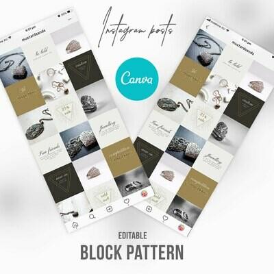 Jewellery Instagram Branding Canva Editable Template