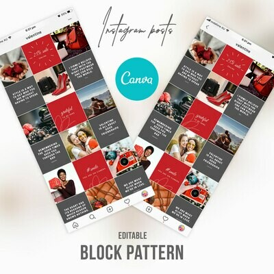 Red Valentine Instagram Post Templates In Canva