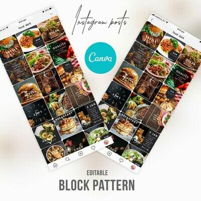Instagram Pub Bar Restaurant Templates Canva