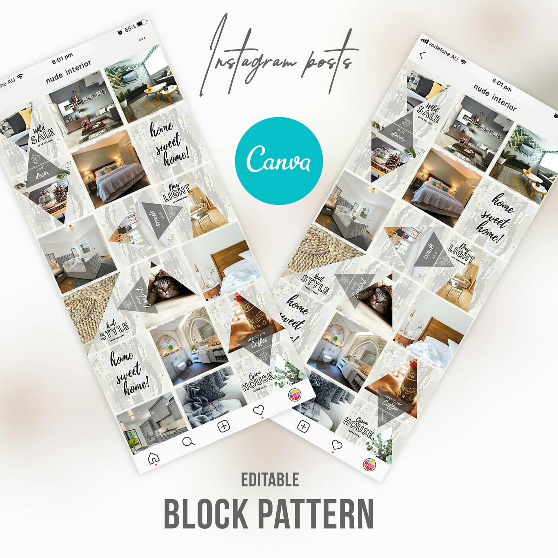 Instagram Home Interior Design Templates Canva