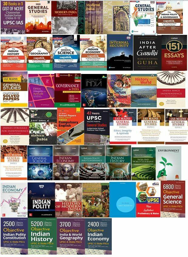 UPSC Civil Services Books Bundle (Top 50 books for IAS Exam)