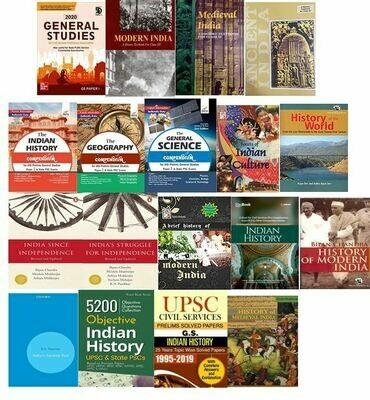 UPSC History Books Bundle (20 Books)