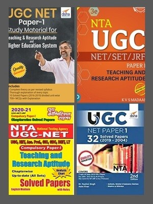 UGC NET JRF Books Bundle Paper 1 Teaching and Research Aptitude