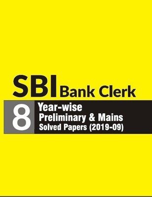 SBI Bank Clerk Solved Previous Year Papers Preliminary & Mains 2009-19
