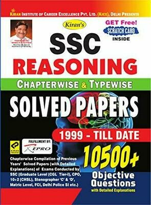 SSC Reasoning Previous Papers Chapterwise & Typewise Kiran