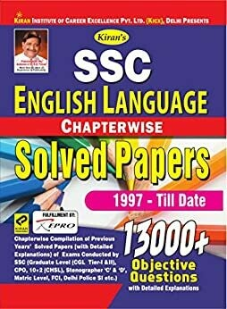 SSC english language chapterwise solved papers - Kiran